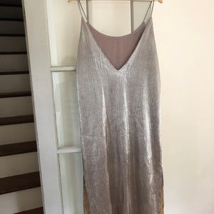Gold/silver shift dress from Urban Outfitters